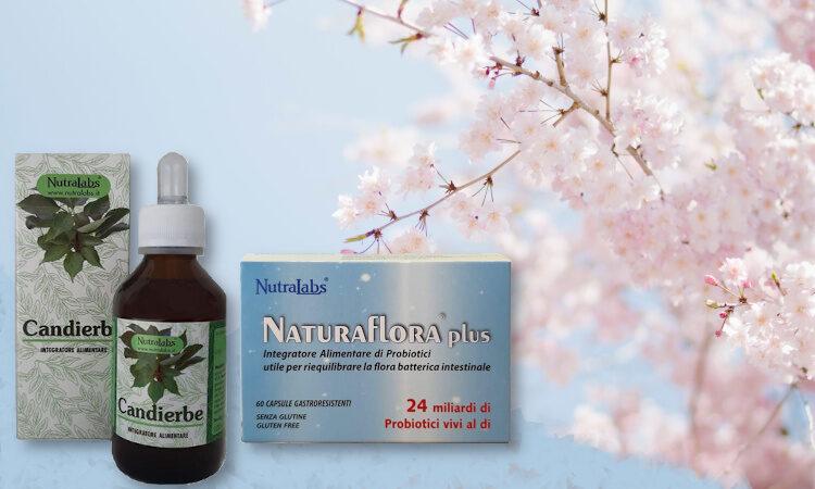 Candierbe e Naturaflora plus per la cura della candida